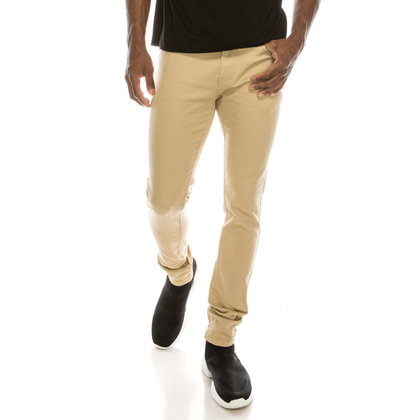 Ultra Stretch Skinny Colored Jeans - Khaki