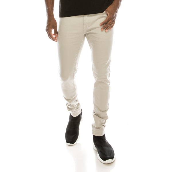 Ultra Stretch Colored Skinny Jeans - Light Grey