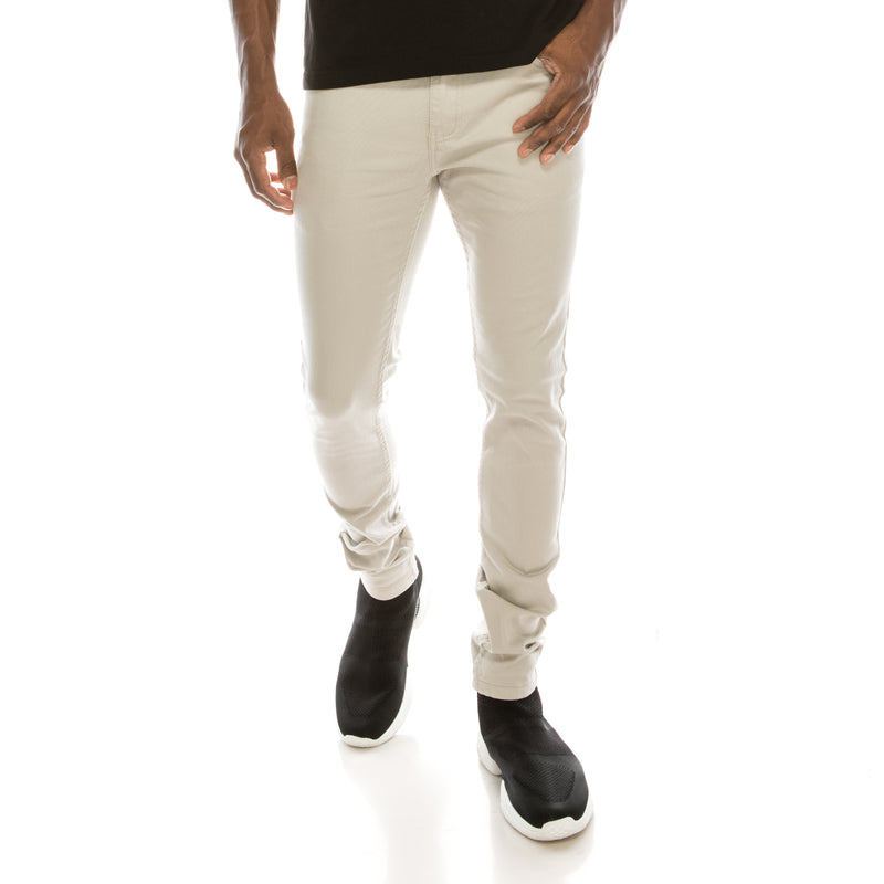 Ultra Stretch Skinny Colored Jeans - Lt. Grey