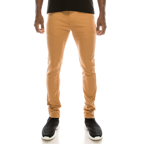 Ultra Stretch Skinny Colored Jeans - Wheat