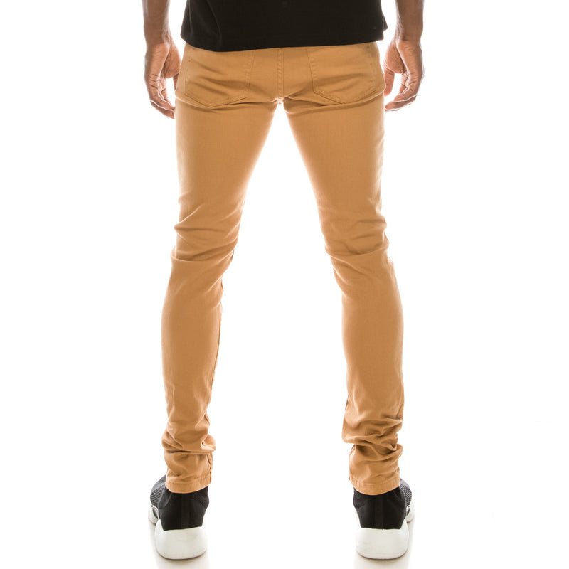 Ultra Stretch Colored Skinny Jeans - Wheat
