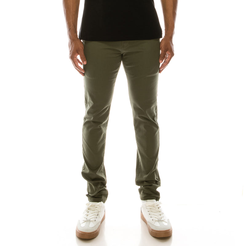 ESSENTIAL  CHINO PANTS  - OLIVE