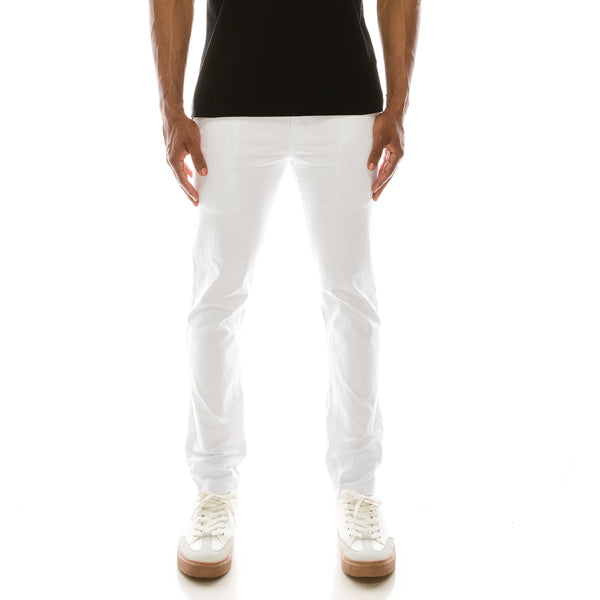 ESSENTIAL  CHINO PANTS  - WHITE