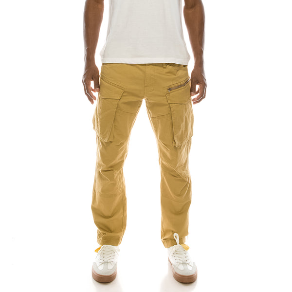 BIG CARGO ZIPPER COLOR PANTS - KHAKI