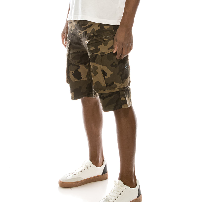 BIG CARGO ZIPPER COLOR SHORTS - CAMO