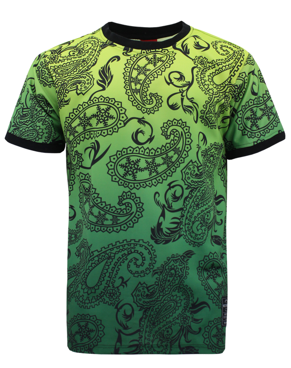 PAISLEY OMBRE T-SHIRTS - GREEN