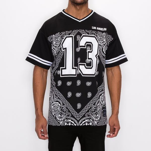 #13 BANDANA FOOTBALL SHIRTS - BLACK