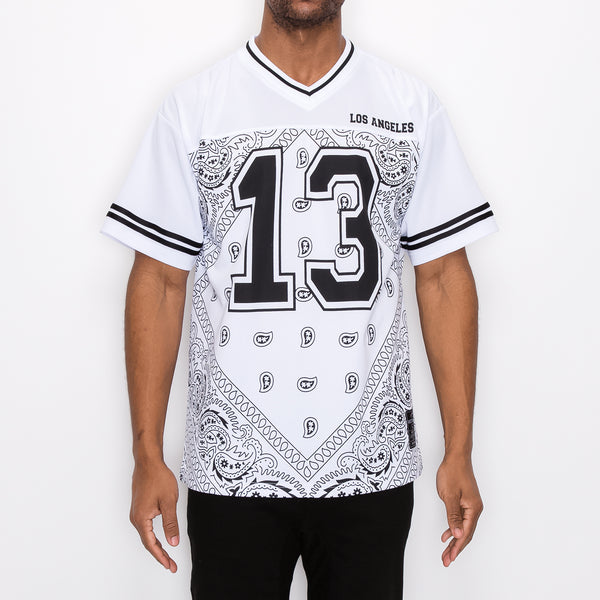 #13 BANDANA FOOTBALL SHIRTS - WHITE
