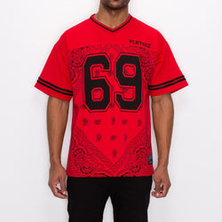 #69 BANDANA FOOTBALL SHIRTS - RED