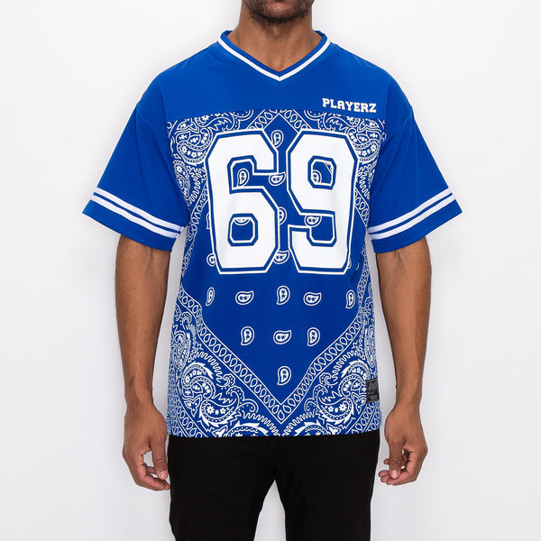 #69 BANDANA FOOTBALL SHIRTS - ROYAL BLUE
