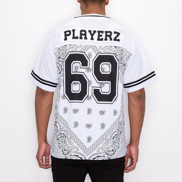 #69 BANDANA FOOTBALL SHIRTS - WHITE