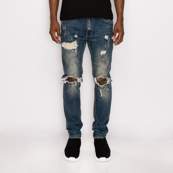 DISTRESSED DENIM JEANS - VINTAGE