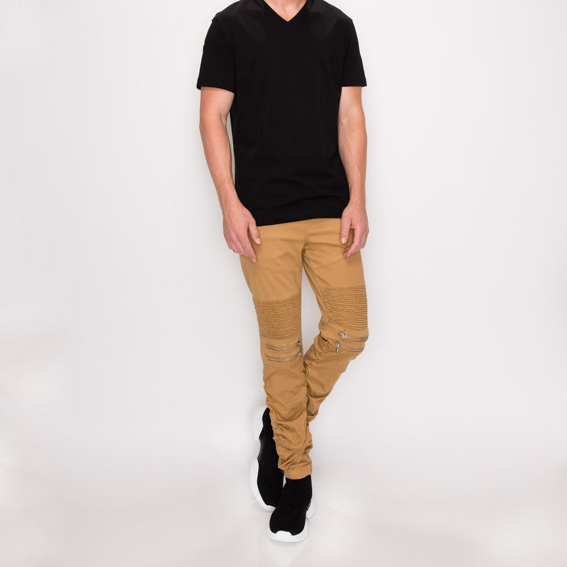 ESSENTIAL  COLORED SLIM JEANS -  KHAKI