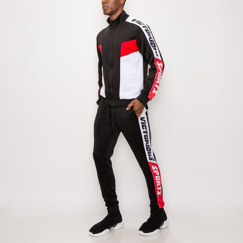 VICTORIOUS SPORTS TRACK SUIT - BLACK
