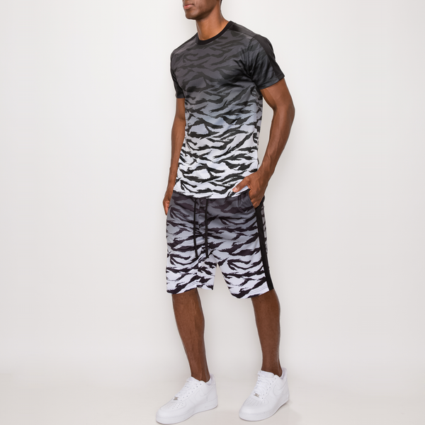 TIGER CAMO GRADATION T-SHIRTS - BLACK