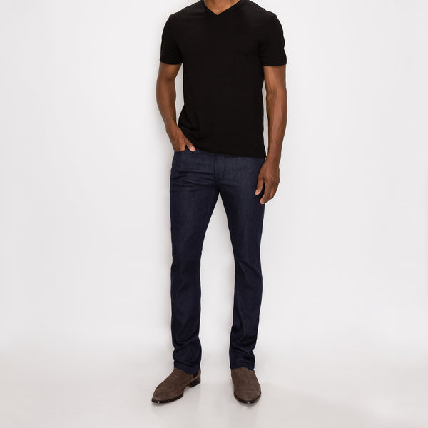 SKINNY RAW DENIM JEANS - INDIGO