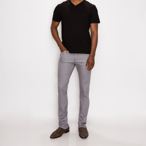 SKINNY RAW DENIM JEANS - LT GREY