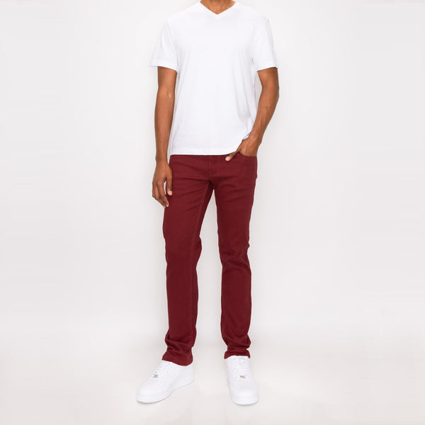 ESSENTIAL COLORED SKINNY JEANS -  RUST