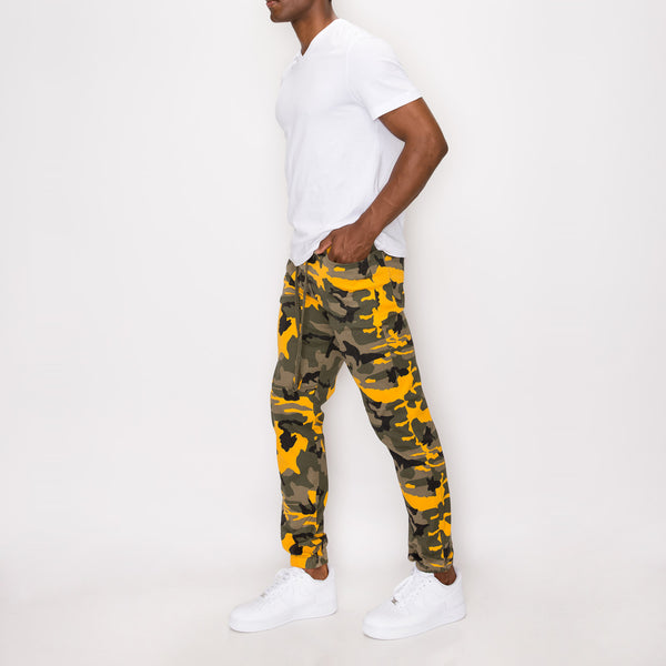 CAMO JOGGER PANTS - YELLOW CAMO