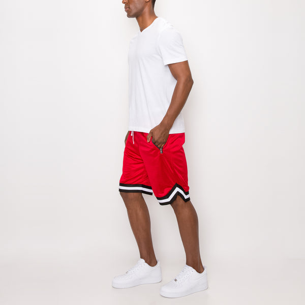 AIR MESH BASKETBALL SHORTS - RED