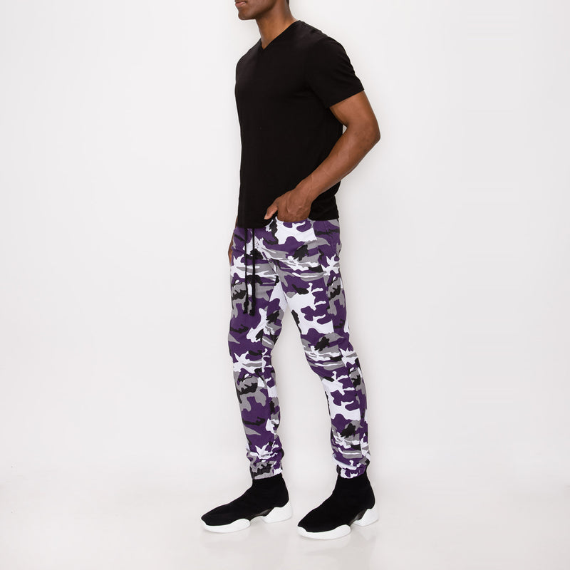 CAMO JOGGER PANTS - PURPLE CAMO