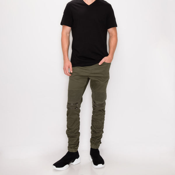 BUNGEE JOGGER PANTS - OLIVE