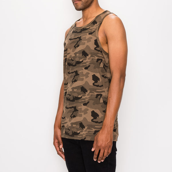 ESSENTIAL LONG LENGTH TANK TOP - CAMO