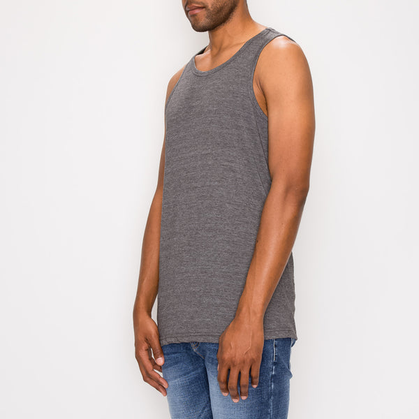 ESSENTIAL LONG LENGTH TANK TOP - CHARCOAL