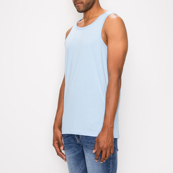 ESSENTIAL LONG LENGTH TANK TOP - SKY BLUE