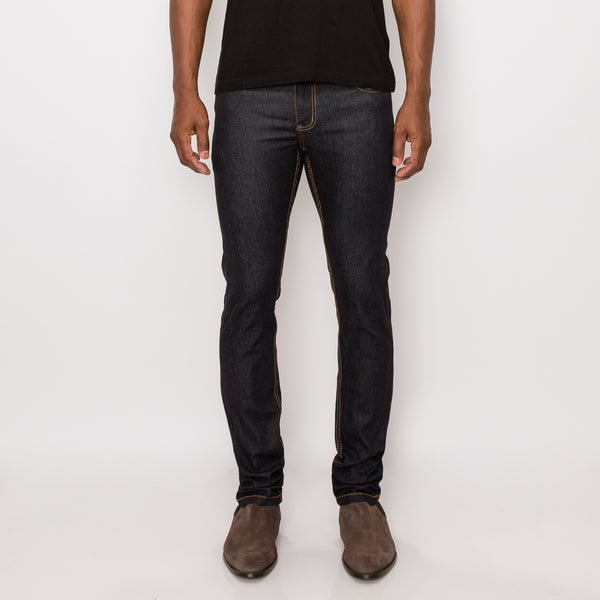 SKINNY RAW DENIM JEANS - INDIGO / TIMBER
