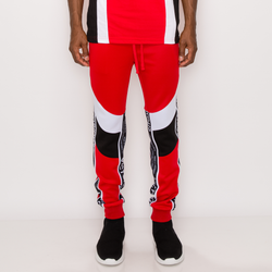 MOTO TRACK PANTS - RED