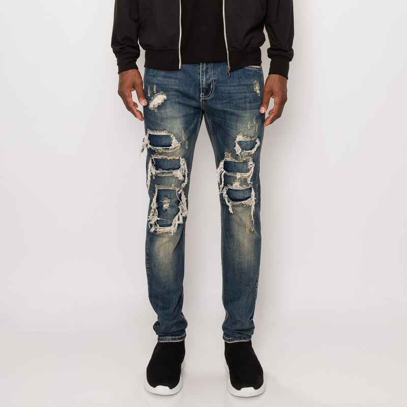 DISTRESSED ILLUSION JEANS - VINTAGE