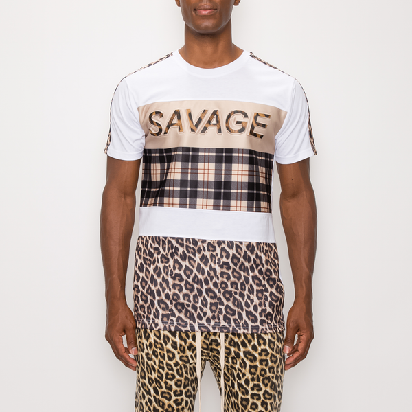 SAVAGE PRINT T-SHIRT - WHITE