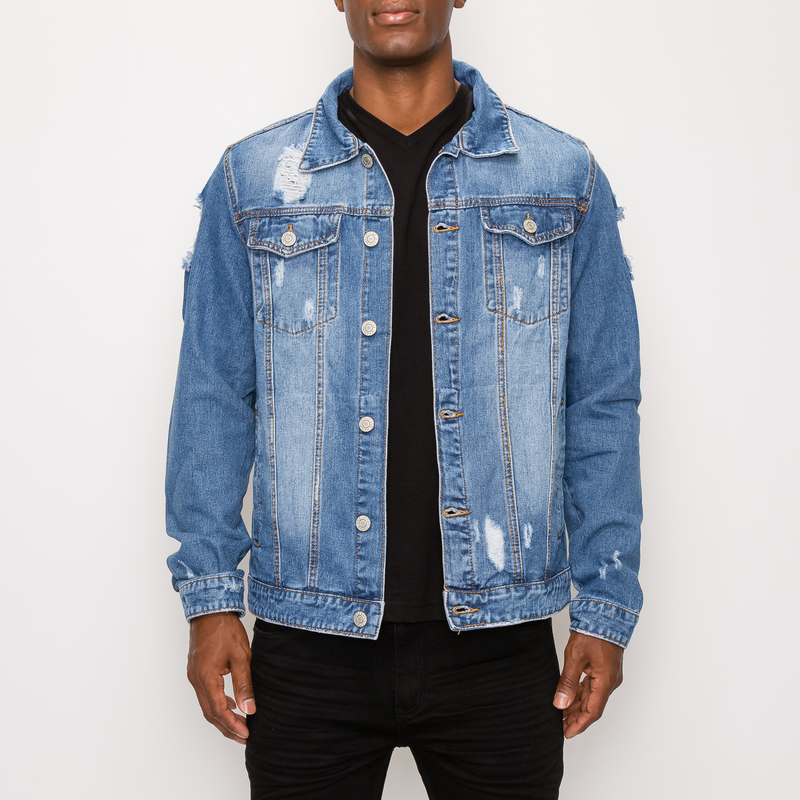 SAVAGE TIGER DENIM JACKET - INDIGO