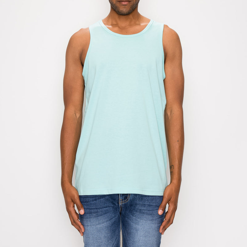 ESSENTIAL STRAIGHT HEM LONG LENGTH TANK TOP - MINT
