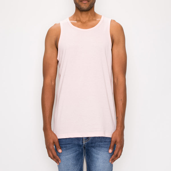 ESSENTIAL STRAIGHT HEM LONG LENGTH TANK TOP - D. PINK
