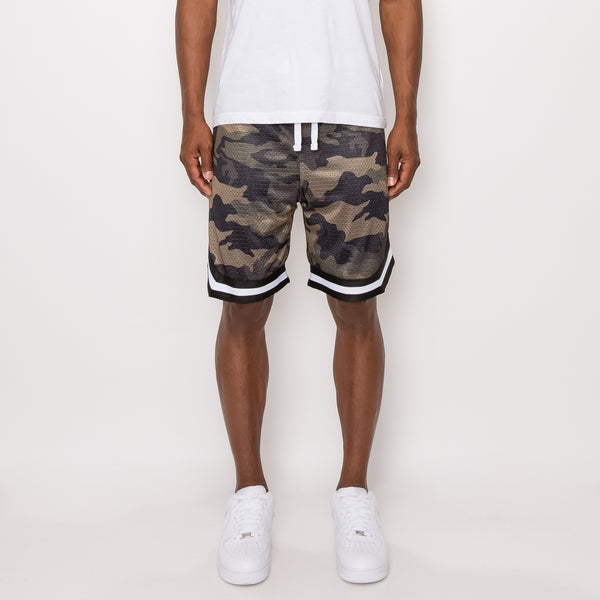 AIR MESH BASKETBALL SHORTS - OLIVE CAMO