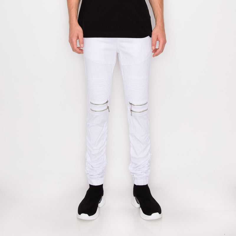 BUNGEE JOGGER PANTS - white