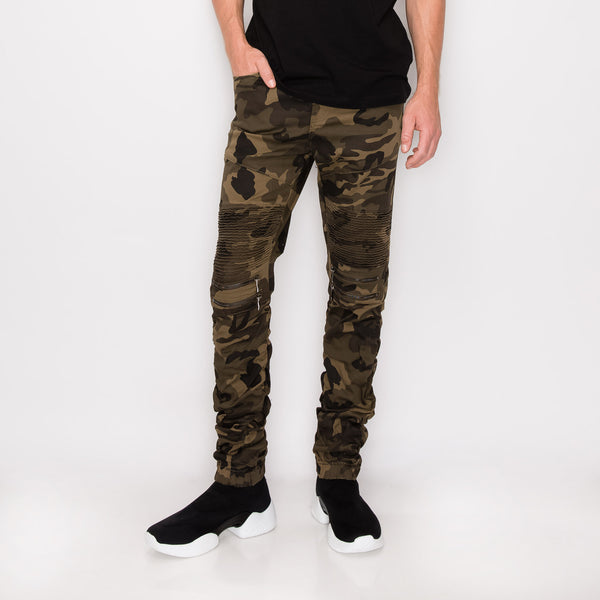 BUNGEE JOGGER PANTS - OLIVE CAMO