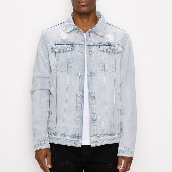 WORLD TOUR DENIM JACKET - LT INDIGO