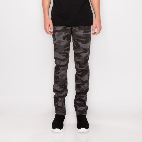 CAMOUFLAGE SKINNY FIT JEANS - BLACK CAMO