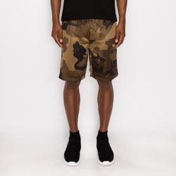 MESH BASKETBALL SHORTS - OLIVE CAMO