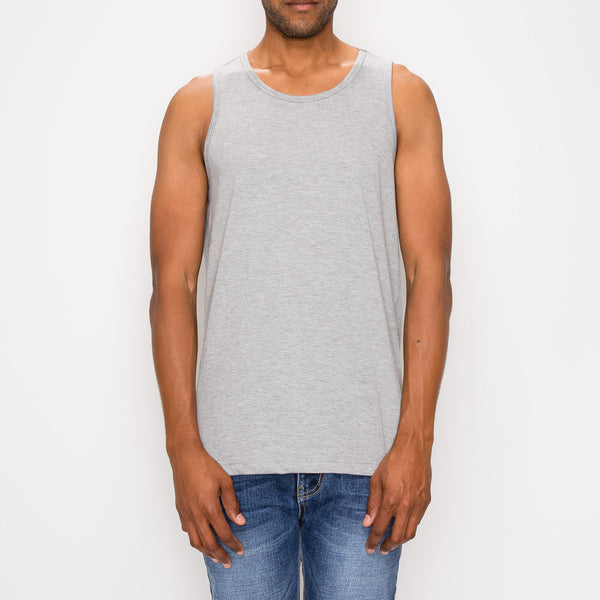 ESSENTIAL LONG LENGTH TANK TOP - GREY