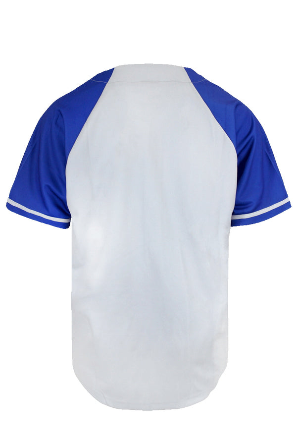 LA BASEBALL JERSEY - GREY/ROYAL BLUE