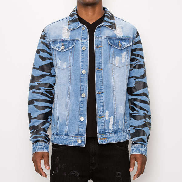 TIGER CAMO DENIM JACKET