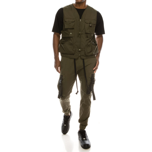 UTILITY JOGGER PANTS - OLIVE