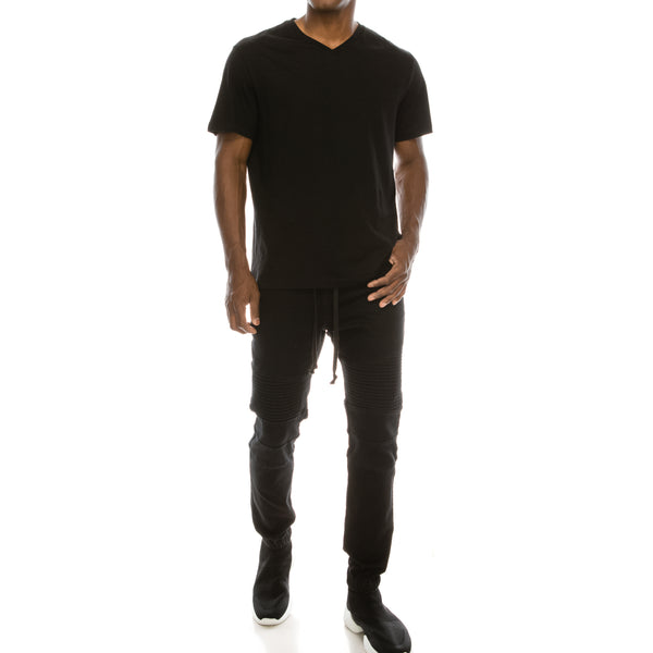 DENIM JOGGER PANTS - BLACK