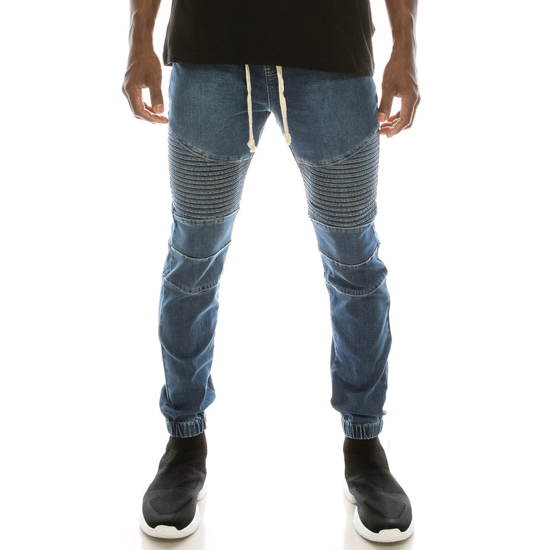 DENIM JOGGER PANTS - INDIGO