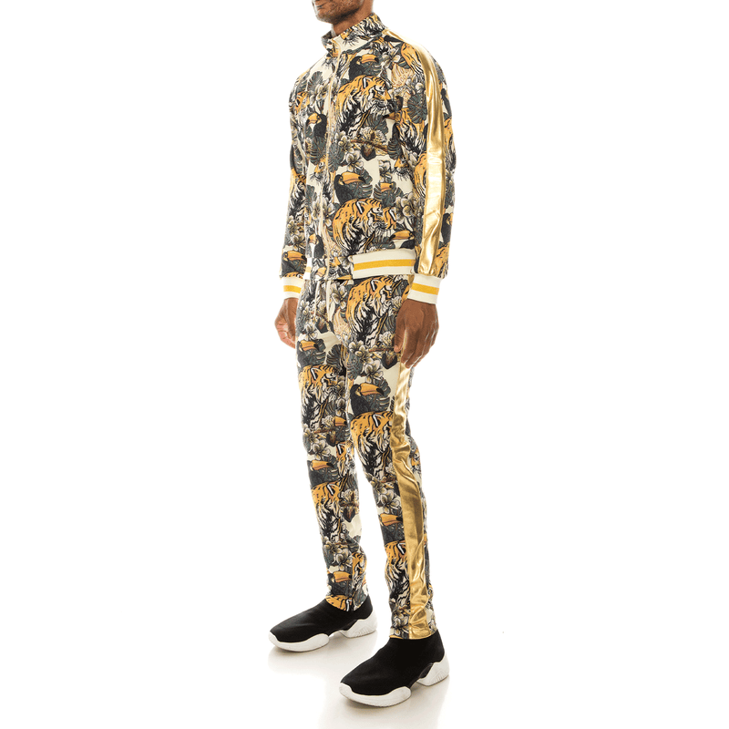 JUNGLE TIGER TRACK SUITS - OFF WHITE
