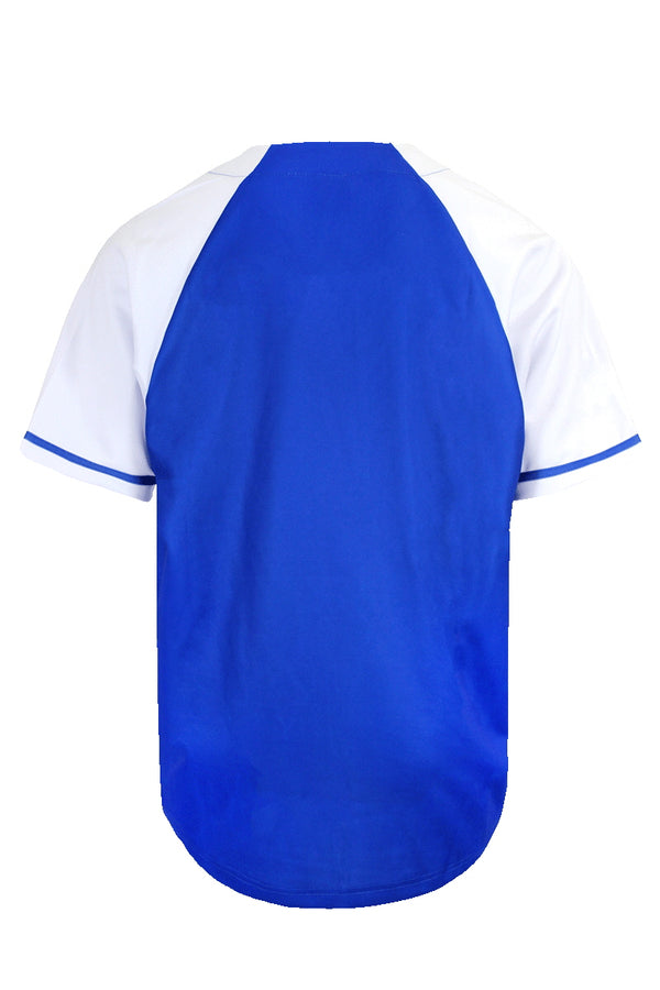 LA BASEBALL JERSEY - ROYAL BLUE/WHITE